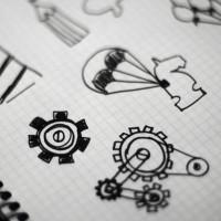 Bocetos para las ilustraciones de Wide Marketing