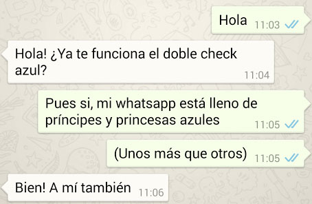 Dos checks azules WhatsApp, mensaje leído | Wide Marketing